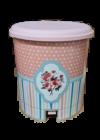 Tuffex pedálos szemetes mintás 10l TP2216 Pink rózsa
