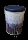 Tuffex pedálos szemetes mintás 25l TP2218 kék márvány