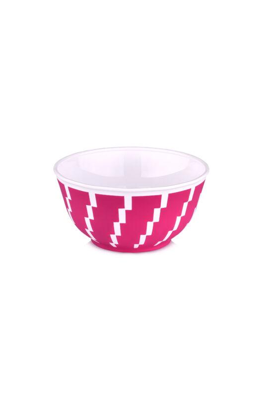 Hobby tálka cikkcakk kerek 0,35l 2290 pink