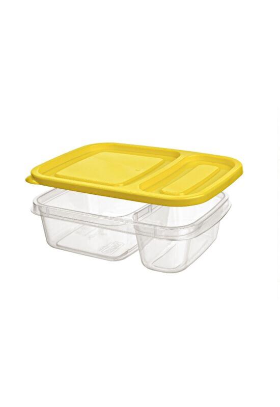 Hobby tároló doboz osztott 0,75l 021381 sárga