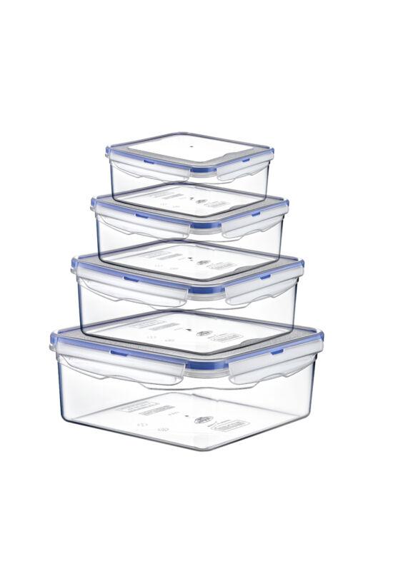 Hobby légmentes tároló doboz szett szögletes 0,3+0,68+1,3+2,3l 021480