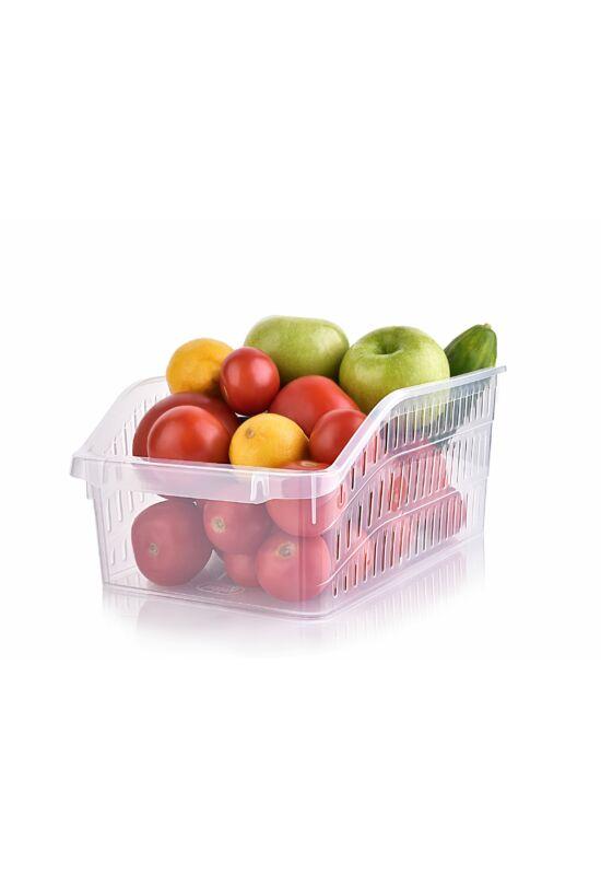 Hobby zöldségtároló átlátszó széles 031064