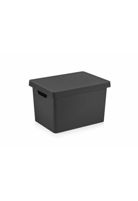 Emhouse tároló doboz tetővel 17l EP-411 ÚJ fekete