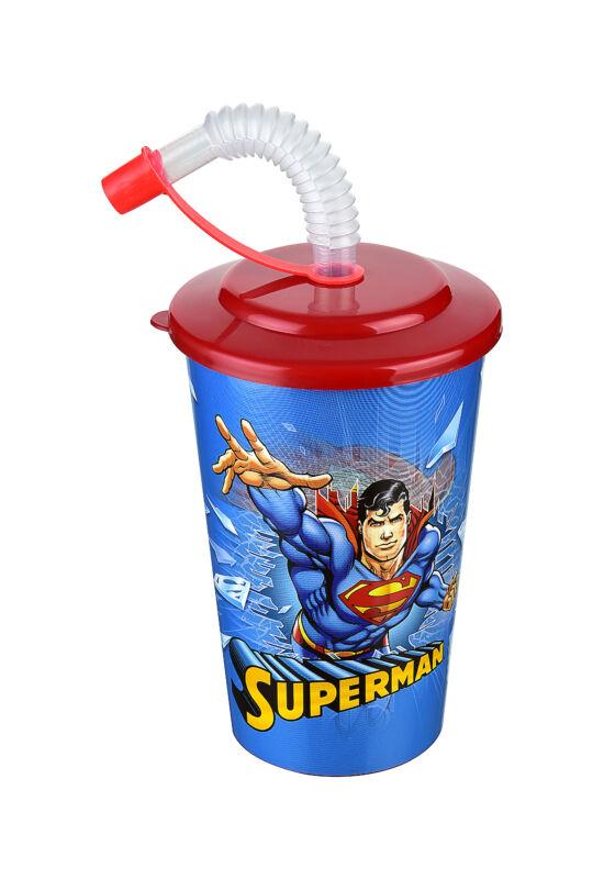 Tuffex Superman pohár szívószálas tetővel TP513-51 ÚJ 1