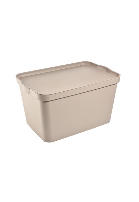 Tuffex tároló doboz tetővel 24l TP596 ÚJ krém